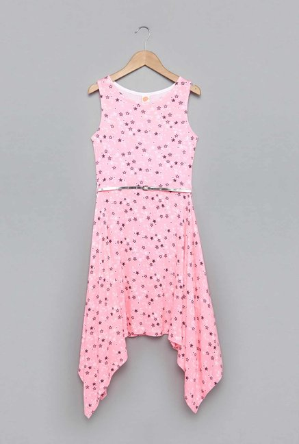 4a663918e75 Buy Y&F by Westside Bright Pink Zia Dress with Belt for Girls ...