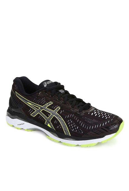 new concept a4b38 5bc19 Buy Asics Gel-Kayano 23 Lite Black Running Shoes for Men at ...