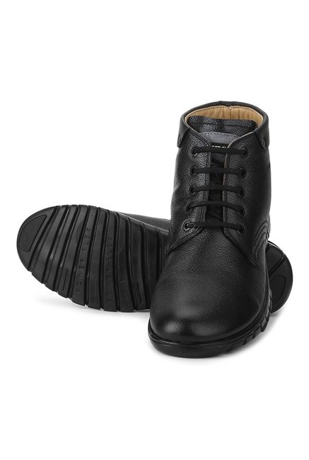Buy Red Chief Black Derby Boots For Men At Best Price Tata Cliq