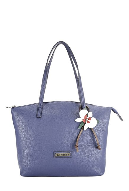 Caprese Orchid Navy Solid Shoulder Bag