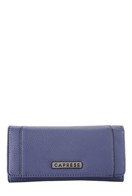 Caprese Orchid Navy Solid Flap Wallet