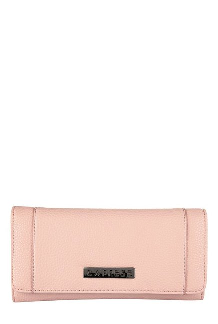 Caprese Orchid Nude Solid Flap Wallet