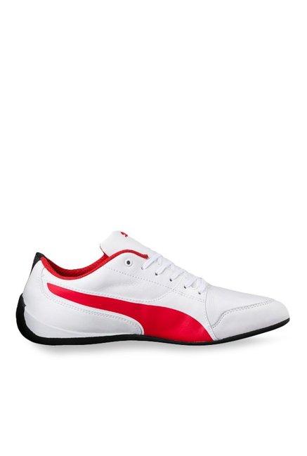 2ba67a5ac3b5 Buy Puma Ferrari SF Drift Cat 7 White   Rosso Corsa Sneakers for Men at Best  Price   Tata CLiQ