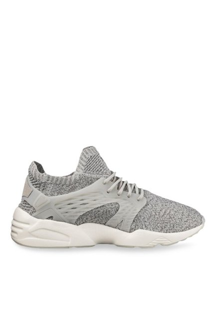 731a8bce8407 Buy Puma Blaze Cage evoKNIT Steel Grey Training Shoes for Men at Best Price    Tata CLiQ