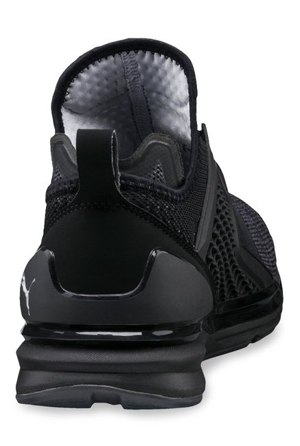 huge discount 4209d 6096b Puma Ignite Limitless Knit Black Training Shoes