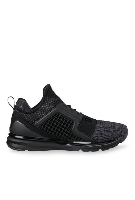 2968cb3728d215 Buy Puma Ignite Limitless Knit Black Training Shoes for Men at Best Price    Tata CLiQ
