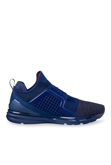 Buy Puma Ignite Limitless Knit Blue Depths Training Shoes for Men at Best  Price   Tata CLiQ 4c26f22d5