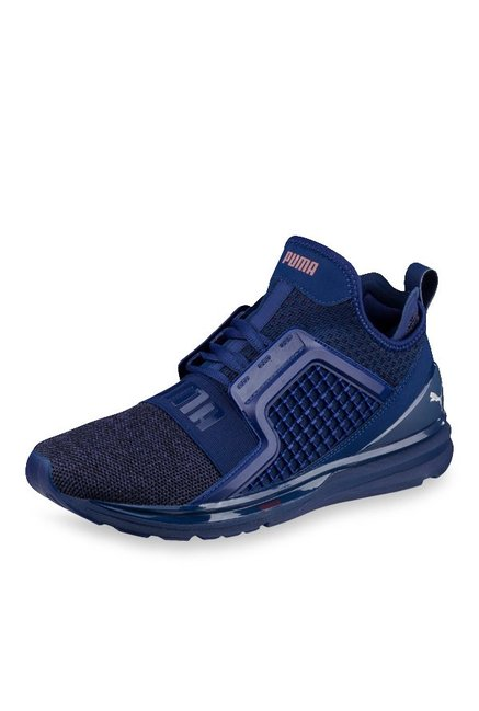promo code 86bc2 97aa1 Buy Puma Ignite Limitless Knit Blue Depths Training Shoes ...