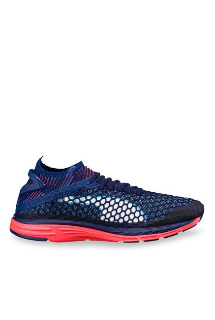 033faeb9092 Buy Puma Speed Ignite Netfit Blue Depths   Coral Running Shoes for Men at Best  Price   Tata CLiQ