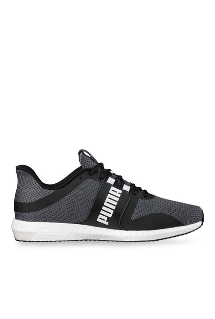 0e8c3b04d45c35 Buy Puma Mega NRGY Turbo Black   Grey Running Shoes for Men at Best Price    Tata CLiQ