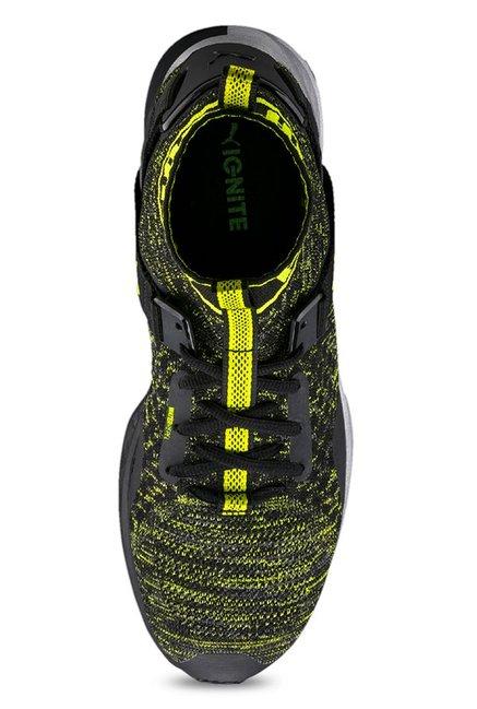 Buy Puma Ignite evoKNIT NC Black   Lime Green Training Shoes for Men ... 1c95e8c0b
