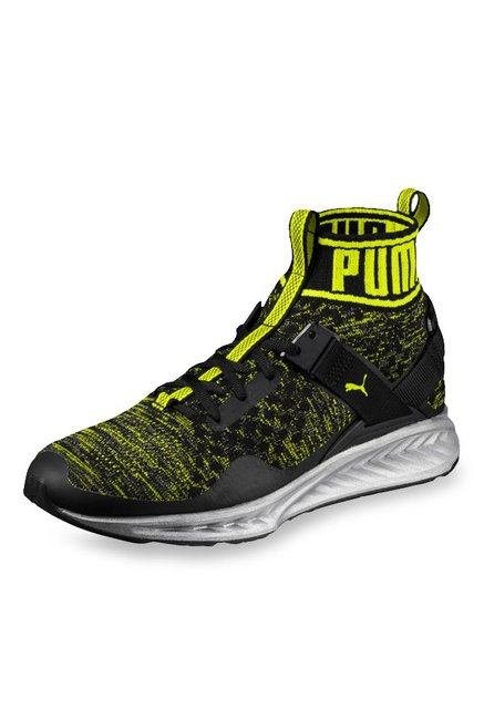buy popular 94ca7 b2439 Buy Puma Ignite evoKNIT NC Black & Lime Green Training Shoes ...