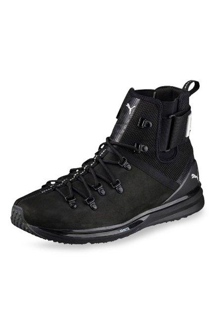 classic fit 88de0 29b6d Buy Puma Ignite Limitless Black Running Shoes for Men at ...