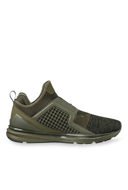 Buy Puma Ignite Limitless Knit Olive Night Training Shoes for Men at ... 57c642dea