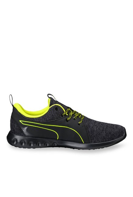 official supplier top-rated quality multiple colors Buy Puma Carson 2 Terrain Black & Lime Yellow Running Shoes ...