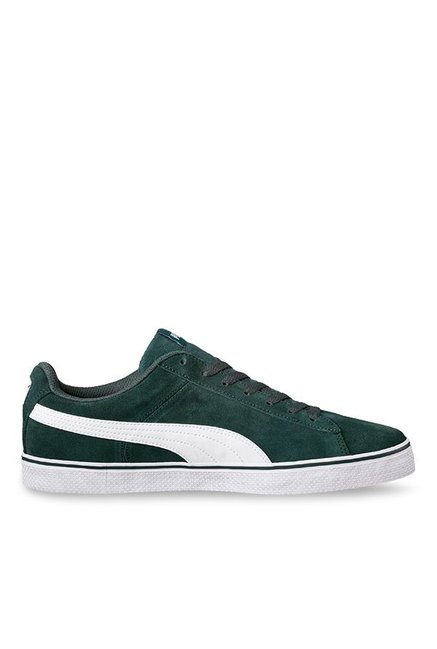 ba8fb323223de7 Buy Puma 1948 Vulc Green Gables   White Sneakers for Men at Best Price    Tata CLiQ