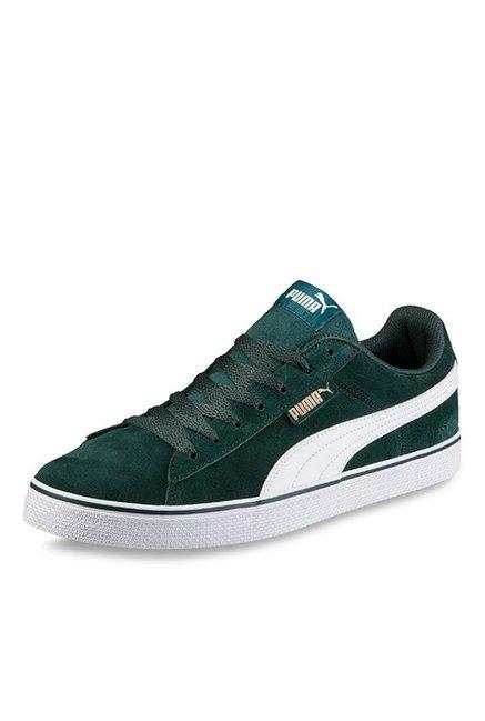 466cc35c211356 Buy Puma 1948 Vulc Green Gables   White Sneakers for Men at Best ...