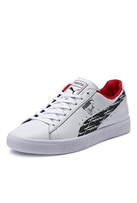 59ba0b9121d Buy Puma Clyde Trapstar White   Black Sneakers for Men at Best Price   Tata  CLiQ