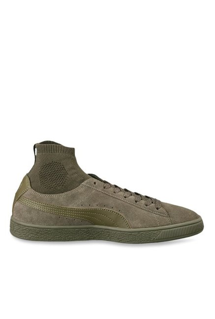 Buy Puma Classic Sock Olive Night Ankle High Sneakers for Men at ... feed28258