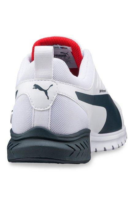 Buy Puma BMW MS Pitlane White   Team Blue Running Shoes for Men at ... e7dc9b71f