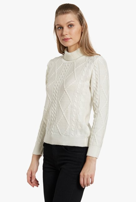 Globus Off White Turtle Neck Pullover
