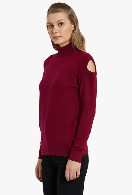 Globus Wine Turtle Neck Pullover
