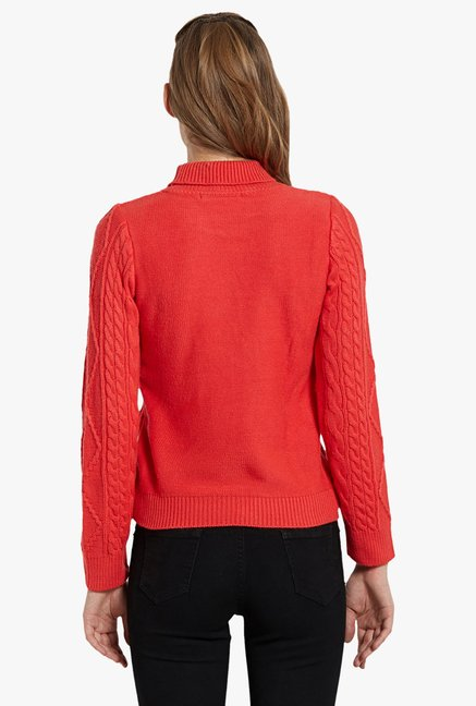 Globus Red Turtle Neck Pullover