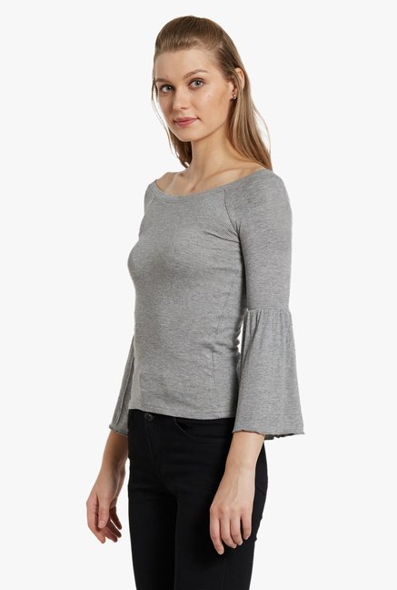 Globus Grey Textured Top