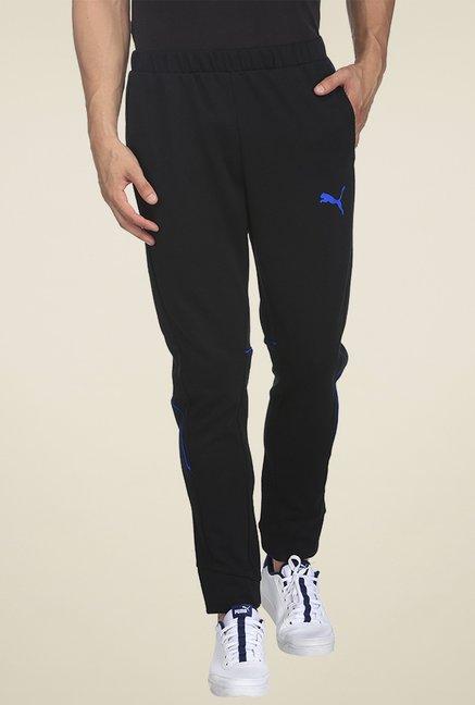 f15a3829b2f716 Buy Puma Black Slim Fit Track Pants for Men Online @ Tata CLiQ