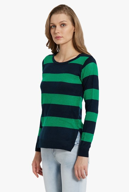 Globus Green Striped Pullover