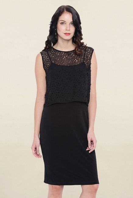 Avirate Black Lace Dress