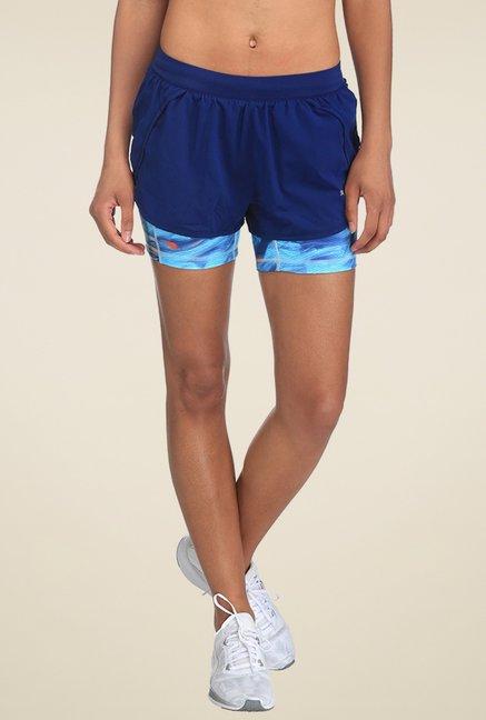 8a780aa0a8e7 Buy Puma Blue Printed Regular Fit Shorts for Women Online   Tata ...