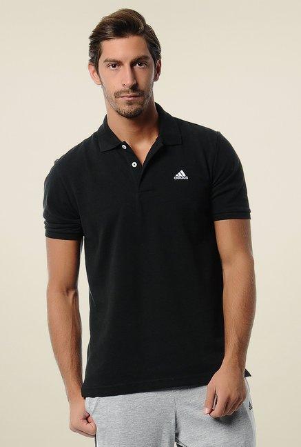 91bdfe1fc Buy Adidas Black Half Sleeves Polo T-Shirt for Men Online @ Tata CLiQ