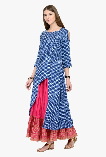 Varanga Blue Checks Kurta