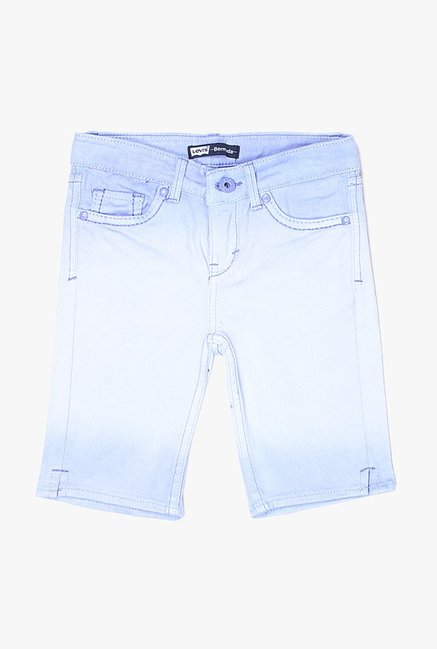 cab1ebdbd7 Buy Levi's Purple Raw Denim Shorts for Girls Clothing Online @ Tata ...
