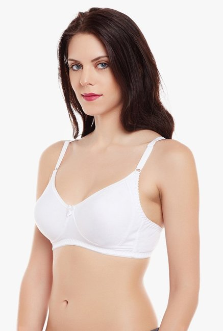 Clovia White Non Wired Non Padded Demi Cup Bra