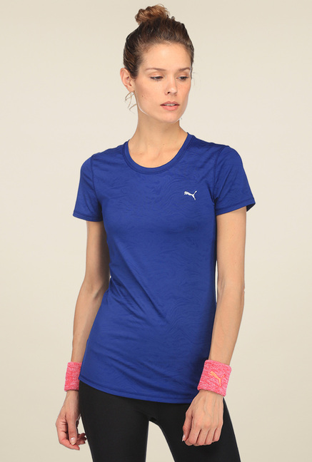 Puma Dark Blue Short Sleeves Round Neck T-shirt