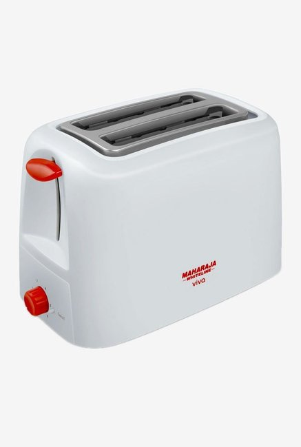 Maharaja Whiteline Viva 750 W Pop Up Toaster (Red/White)