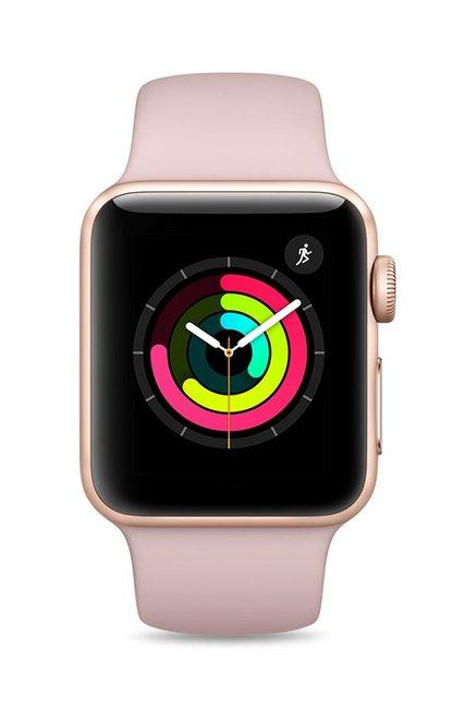 Apple MQKW2 Series 3 GPS 38mm Gold Aluminium Pink Watch