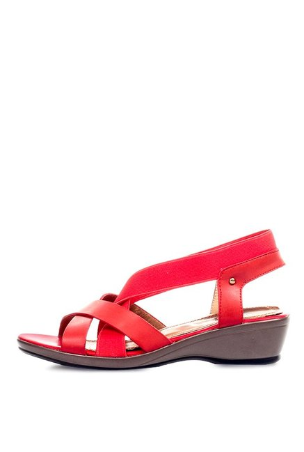 Pavers England Red Sling Back Wedges