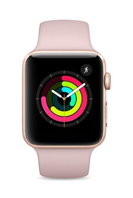Apple MQL22 Series 3 GPS 42mm Gold Aluminium Pink Watch