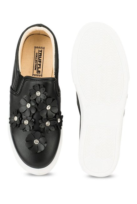 Truffle Collection Black Casual Plimsolls