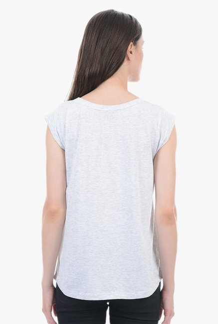 Pepe Jeans Grey Graphic Print Top