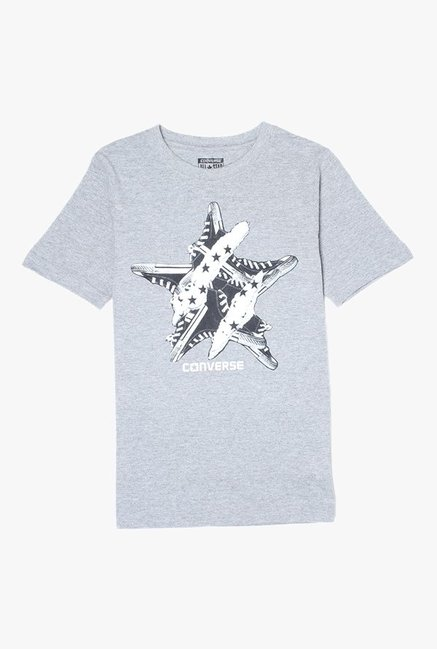 8315c8e82c5d Buy Converse Grey Printed T-Shirt for Boys Clothing Online   Tata ...