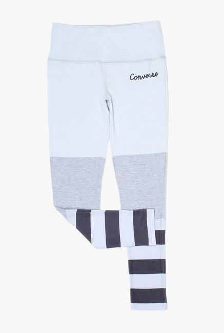 8644cf7e2c3a Buy Converse Grey   Black Striped Leggings for Girls Clothing Online ...