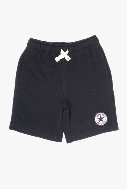 Converse Kids Black Solid Shorts