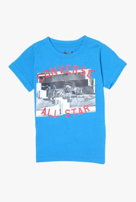 Converse Kids Blue Printed T-Shirt