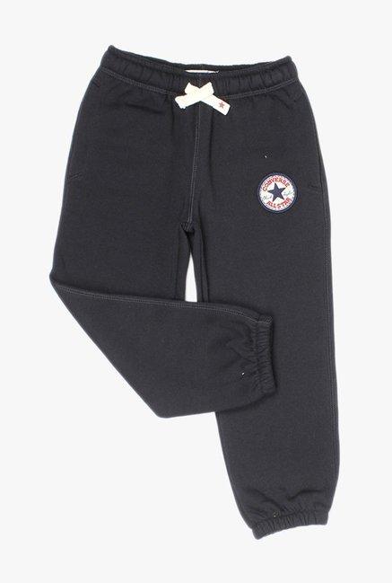 10fdf92f4fac Buy Converse Black Solid Joggers for Boys Clothing Online   Tata CLiQ