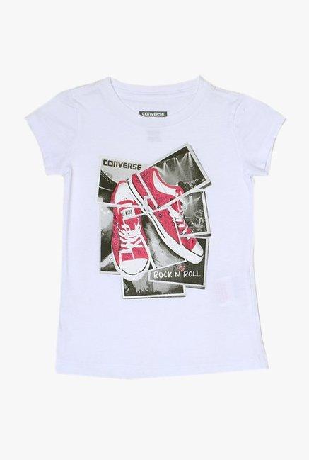 cd385748da49 Buy Converse White Printed Top for Girls Clothing Online   Tata CLiQ