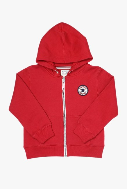 caf352998af2 Buy Converse Red Solid Hoodie for Boys Clothing Online   Tata CLiQ
